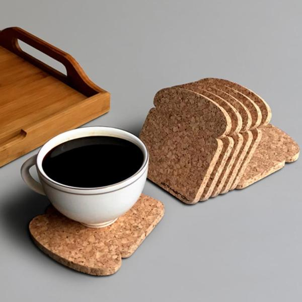 Wine Cork Tea Coaster-Set Of 6-DINING + KITCHEN-PropShop24.com