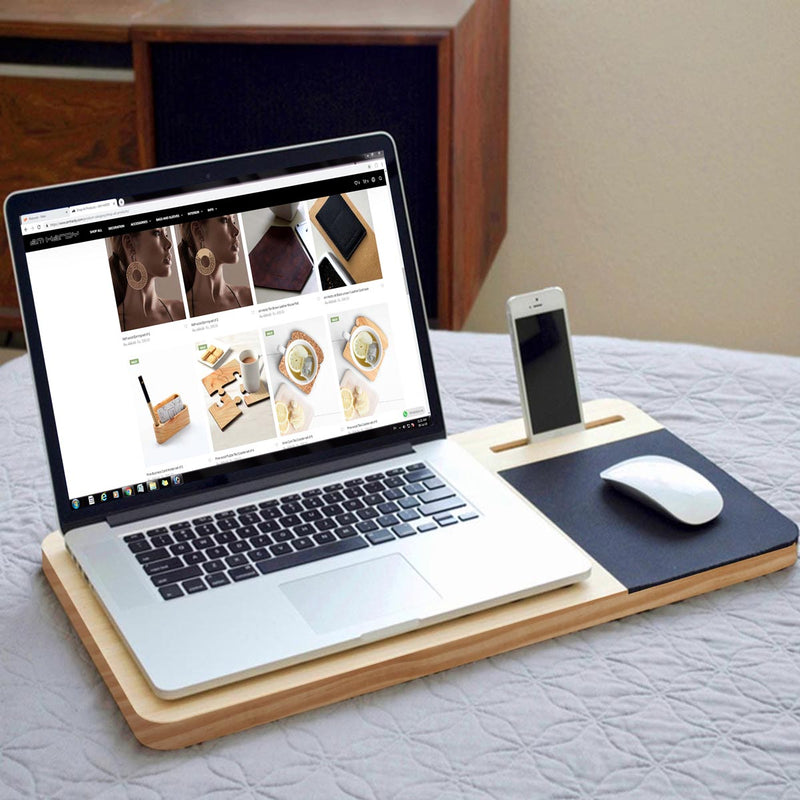 Pine Wood Mobile Or Laptop Stand-DESK ACCESSORIES-PropShop24.com