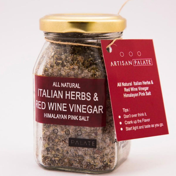 All Natural Italian Herbs and Red Wine Vinegar Himalayan Pink Salt-FOOD-PropShop24.com