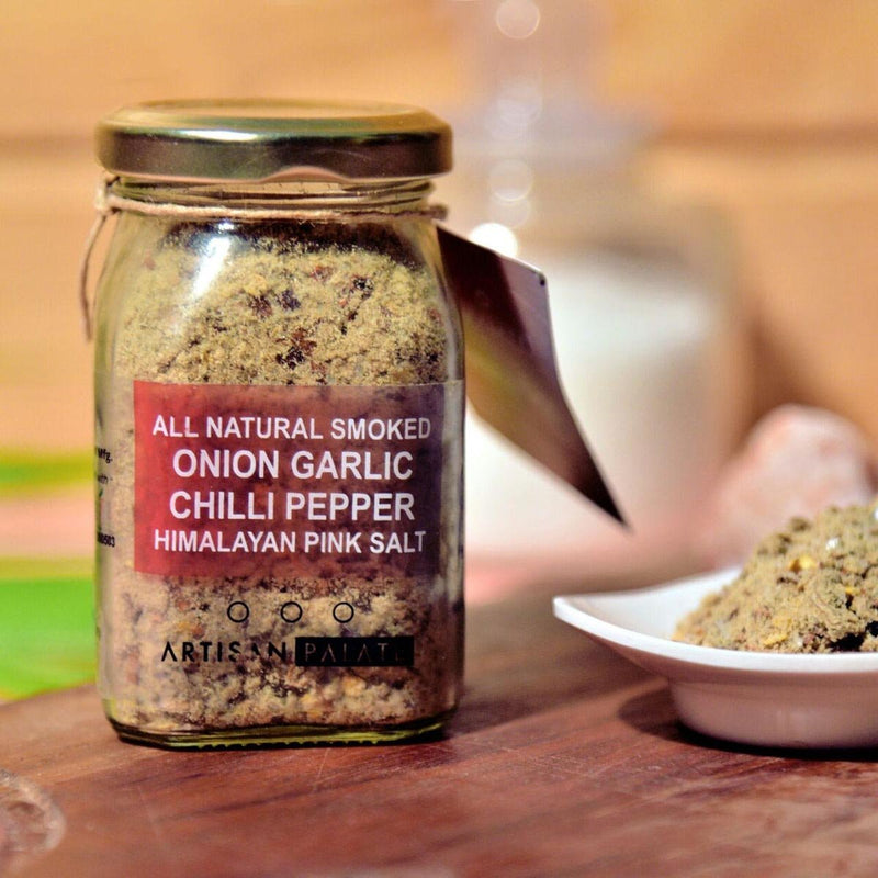 All Natural Smoked Onion Garlic Chilli Pepper Himalayan Pink Salt-SNACK + HEALTHY TREATS-PropShop24.com