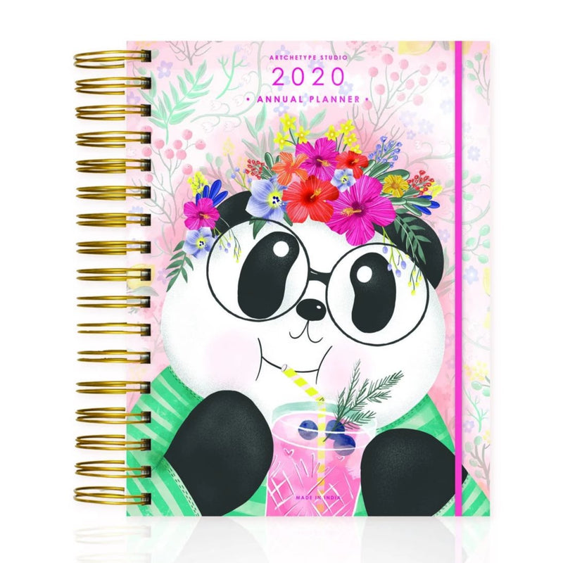 2020 Medium Wire-O Bound Cute Ft. Cubo Annual Planner-NOTEBOOKS + JOURNALS-PropShop24.com