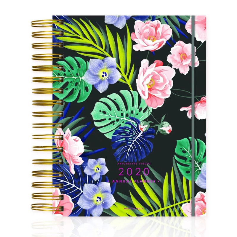 2020 Medium Wire-O Bound Blushing Blooms Annual Planner-NOTEBOOKS + JOURNALS-PropShop24.com
