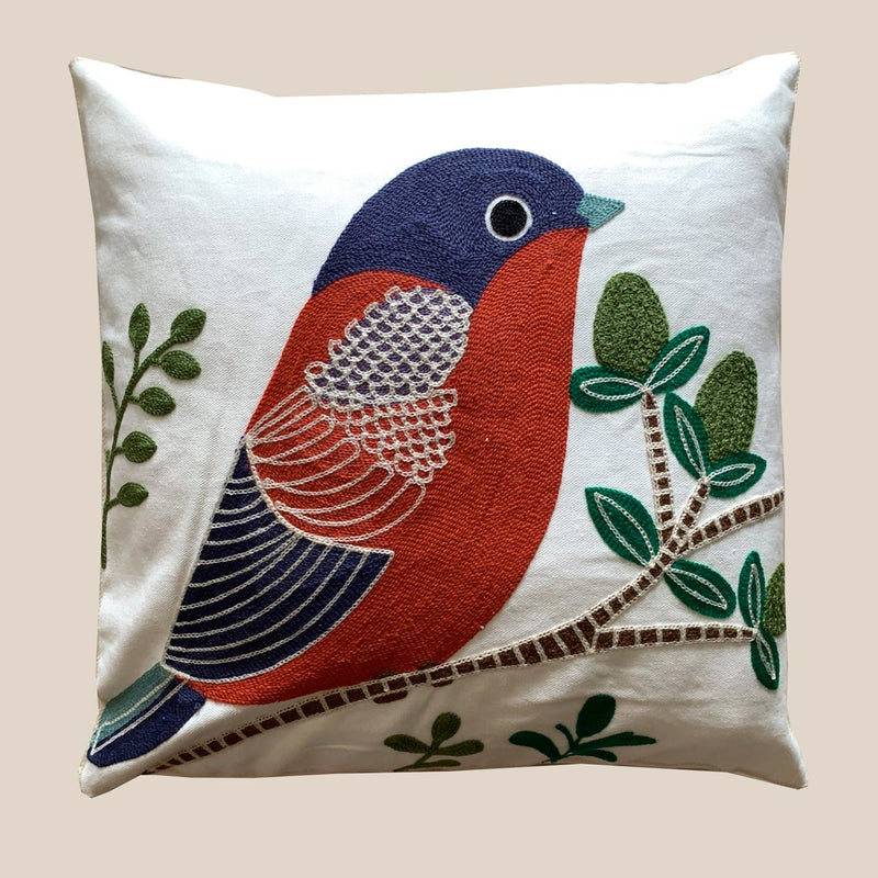 Cushion Cover - Bird - Multi-HOME ACCESSORIES-PropShop24.com