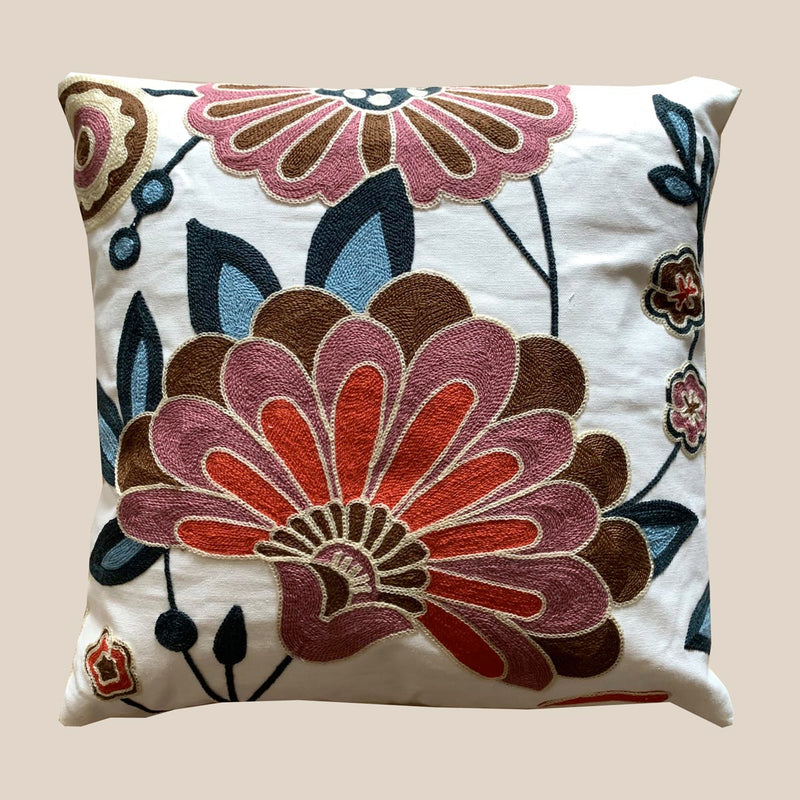 Cushion Cover - Floral - Multi-HOME ACCESSORIES-PropShop24.com