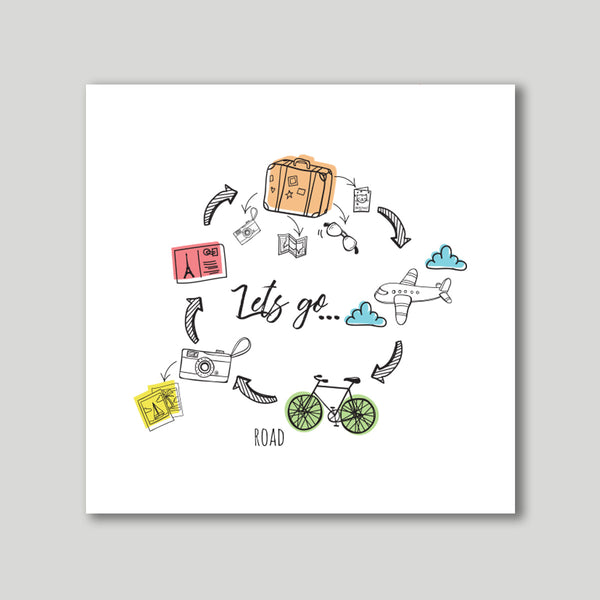 Artprint - Let's Go-HOME-PropShop24.com