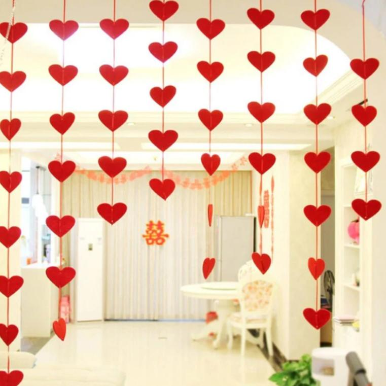 Heart Garlands - Set Of 3-BAR + PARTY-PropShop24.com