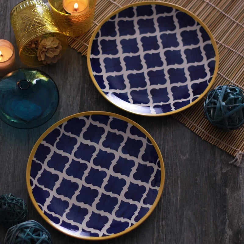 Dinner Plate - Round Umrao - Royal Blue - Set of 2-HOME-PropShop24.com