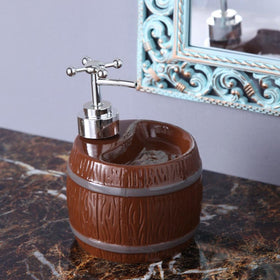 Brown Barrel Soap Dispenser-HOME-PropShop24.com