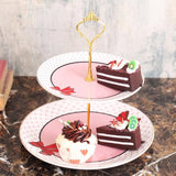 Pretty Red Bow 2-tier cake stand-HOME-PropShop24.com