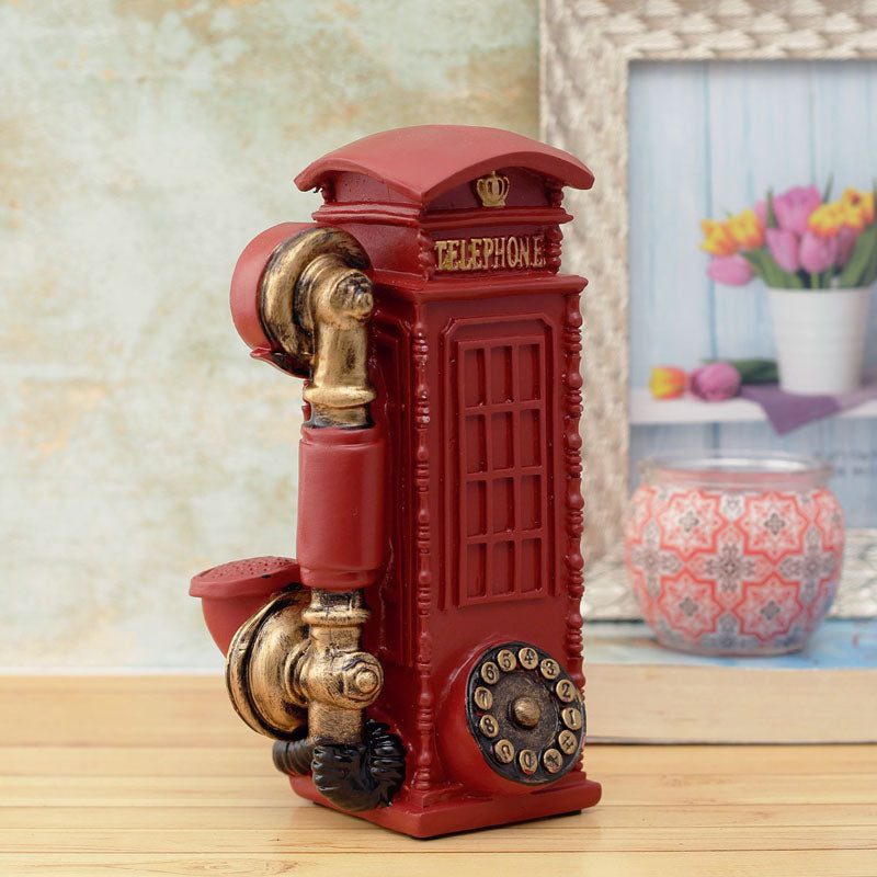 Desk Decor - Vintage Phonebooth - Red-DESK ACCESSORIES-PropShop24.com