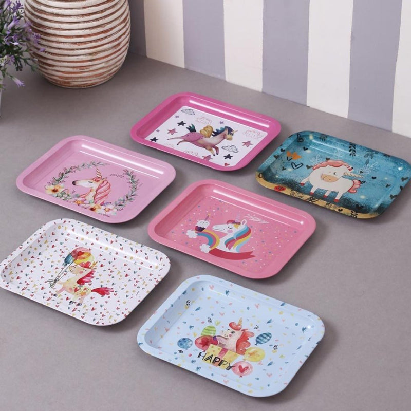 Cute Unicorn Mini Serving Trays - Set Of 6-DINING + KITCHEN-PropShop24.com