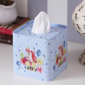 Square Happy Unicorn tissue box-HOME-PropShop24.com