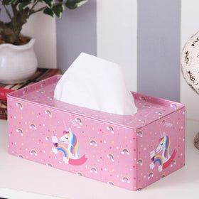 Rectangle Pink Rainbow Unicorn Tissue Box-HOME-PropShop24.com