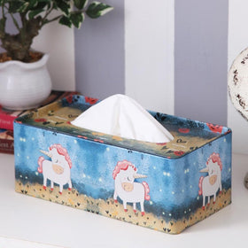Rectangle Dark Blue Unicorn Tissue Box-HOME-PropShop24.com