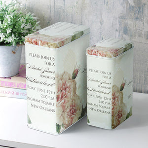 New Orleans Cream Floral Storage Tins - Set Of 2-HOME ACCESSORIES-PropShop24.com