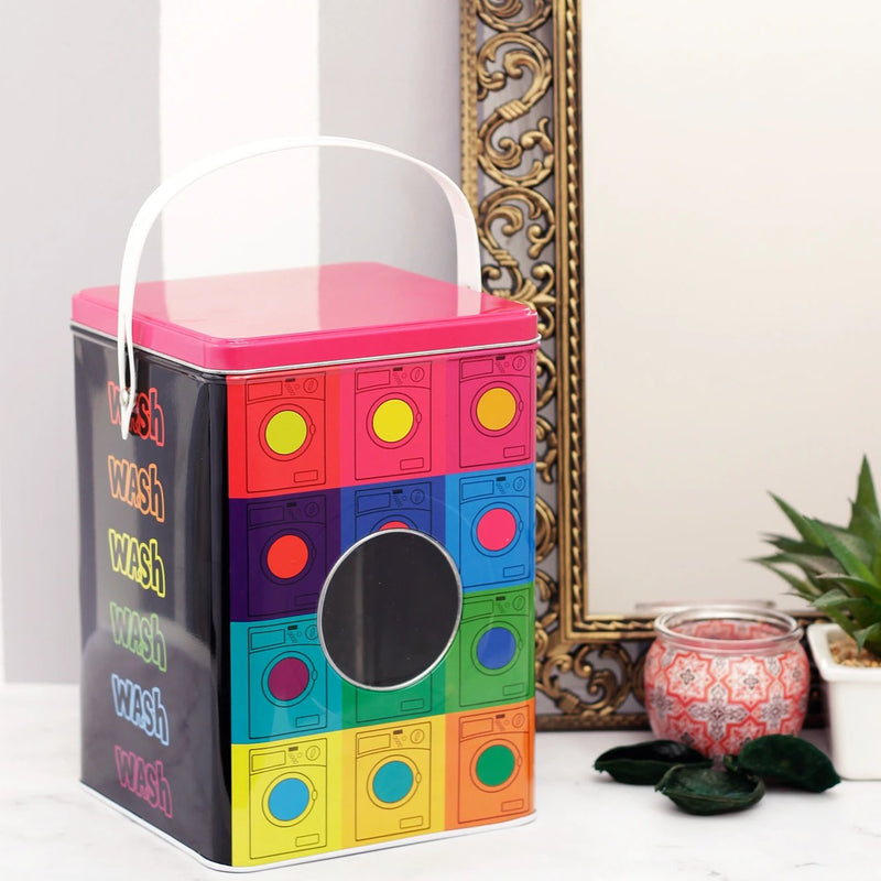 Multicolour Dotted Detergent Powder Storage Box-BATHROOM ESSENTIALS-PropShop24.com