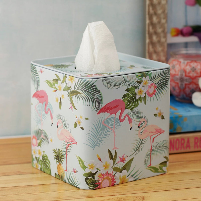 Forest Flamingo Tissue Box-DINING + KITCHEN-PropShop24.com