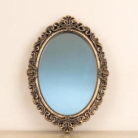 Gold Oval Mirror-HOME-PropShop24.com