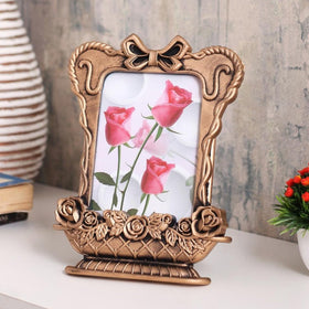 Copper vase photo frame with bow-HOME-PropShop24.com