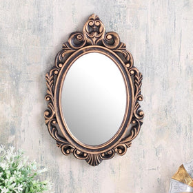 Copper Oval Abstract border mirror-HOME-PropShop24.com