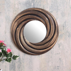 Copper Round Lined Classic Mirror-HOME-PropShop24.com