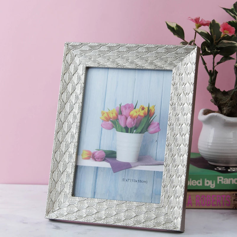 Leaf Pattern Bordered Photo Frame-HOME ACCESSORIES-PropShop24.com