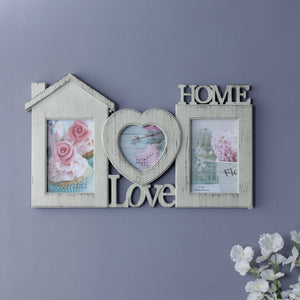 Rustic 3-Picture Family Photo Frame-HOME ACCESSORIES-PropShop24.com