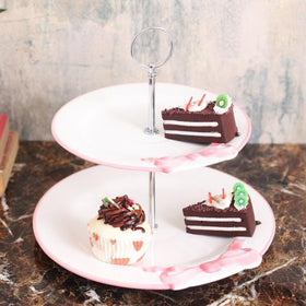 Cute Pink Bow 2- tier cake stand-HOME-PropShop24.com