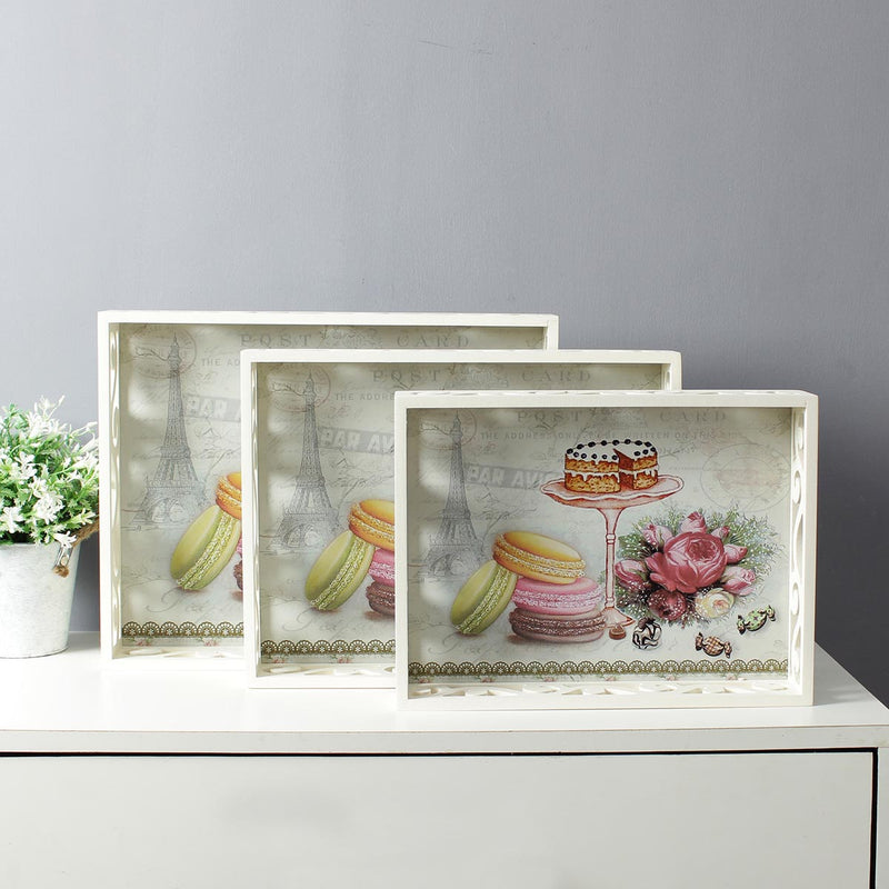 Large Macaroons And Cake Serving Trays - Set Of 3-DINING + KITCHEN-PropShop24.com