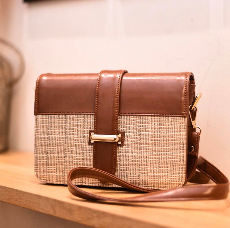 Sling Bag - Tan Jute-WOMEN-PropShop24.com