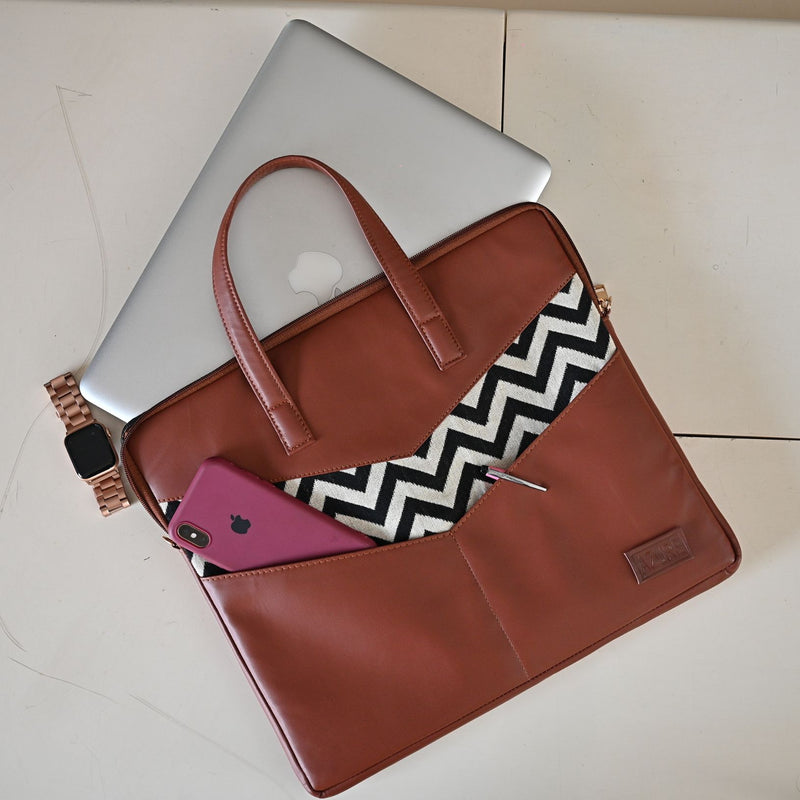 Laptop Sleeve - Tan Chevron-WOMEN-PropShop24.com