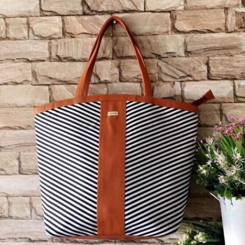 Cross Stripe Tote-Fashion-PropShop24.com