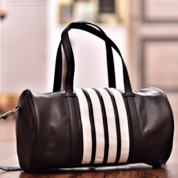 bf4fbf24888e Black and White Gym Bag