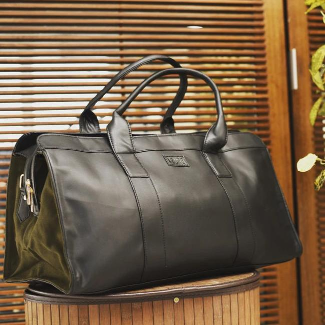 Duffle Bag - Black And Olive-WOMEN-PropShop24.com