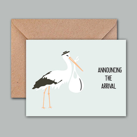 Greeting Card - Announcing the arrival
