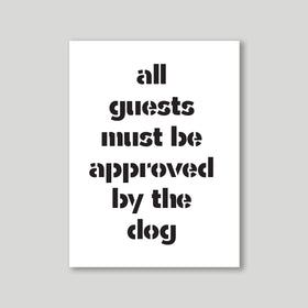 Artprint - Approved by the dog-HOME-PropShop24.com