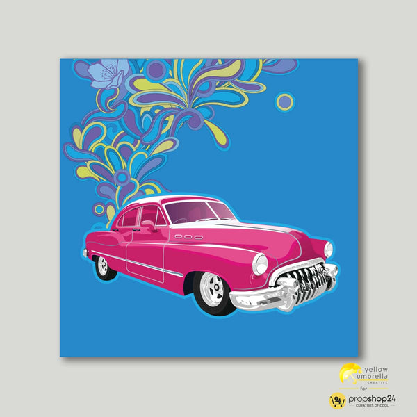 Art Print - Purple Car-HOME-PropShop24.com