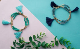 Bangles with Tassle - Set of 6-JEWELLERY-PropShop24.com