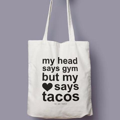 My Head Says Gym Tote-WOMEN-PropShop24.com