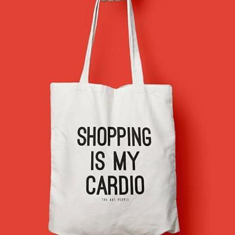 SHOPPING IS MY CARDIO TOTE-PropShop24.com