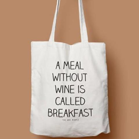 A MEAL WITHOUT WINE TOTE