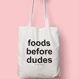 FOODS BEFORE DUDES TOTE-Fashion-PropShop24.com