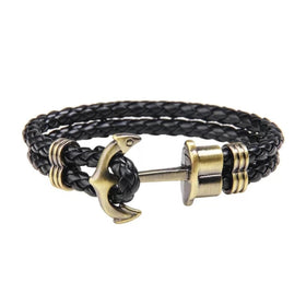 Anchor Leather Bracelet-FASHION-PropShop24.com