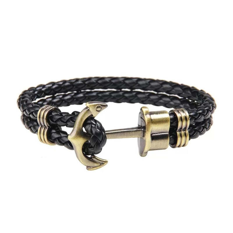 Anchor Leather Bracelet-MEN-PropShop24.com