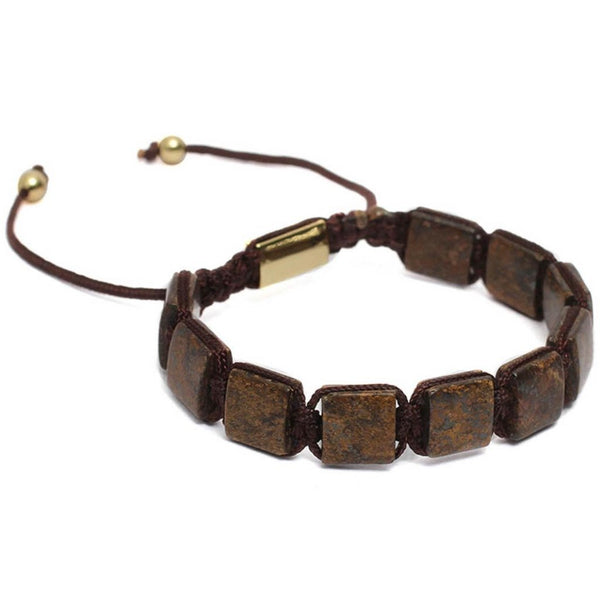 Bracelet-Classic Flat beaded Bracelet - Brown-FASHION-PropShop24.com