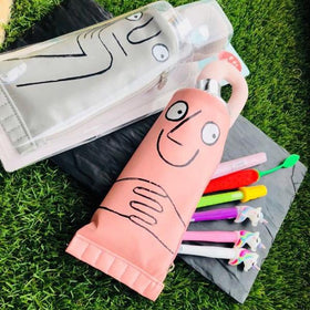 PENCIL CASE - PINK TOOTHPASTE POUCH-STATIONERY-PropShop24.com
