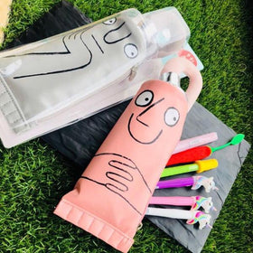 PENCIL CASE - GREY TOOTHPASTE POUCH-STATIONERY-PropShop24.com