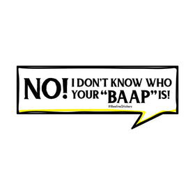 Funny Car Sticker - Not Your Baap-PERSONAL-PropShop24.com