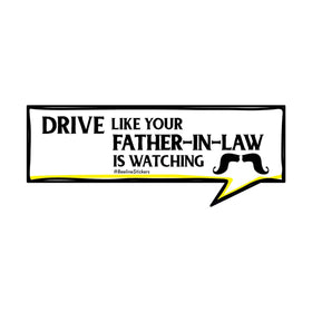 Funny Car Sticker - Father-In-Law-PERSONAL-PropShop24.com