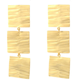Metal Foil Gold Tone - Earrings-JEWELLERY-PropShop24.com